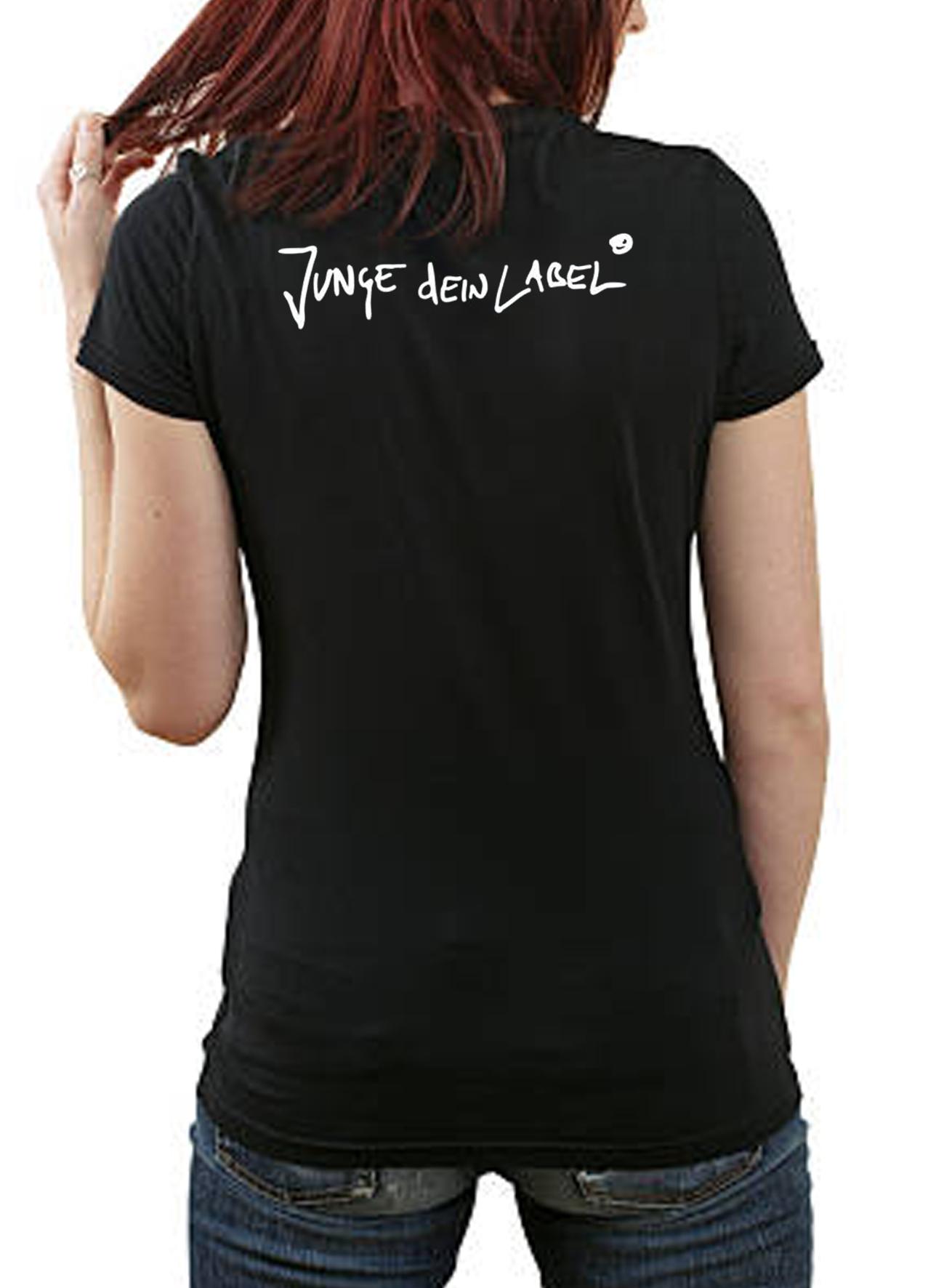 brand new b07ed 37176 Junge dein Label Girlie T-Shirt (V Ausschnitt)
